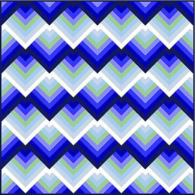 "RATIONALITY - 69"" - Pre-cut Quilt Kit by Quilt-Addicts Double size"