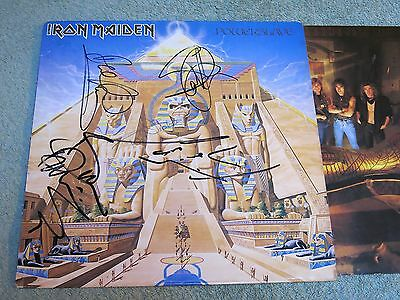 IRON MAIDEN powerslave EMI LP EJ 2402001 ~ FULLY AUTOGRAPHED ON FRONT SLEEVE!