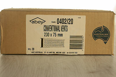 20x CONVENTIONAL VENTS 230 x 75mm - ABEY