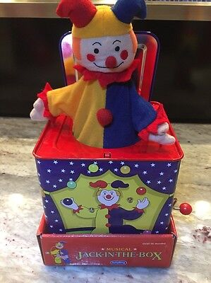 Schylling Jack In A Box Classic Tin Toys In Original Packaging