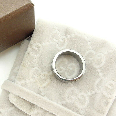 Auth Gucci Ring G Marco Mens Used J10543