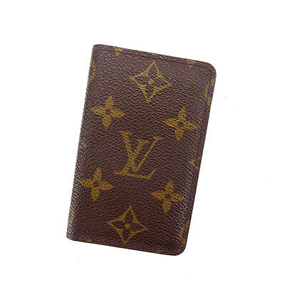 Auth Louis Vuitton Card Case Monogram used A1233