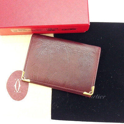 Auth Cartier Card Case Mastline used G1038