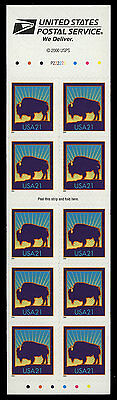 US #3484Ag 21¢ Bison convertible booklet NH MNH