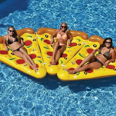 Summer Novelty Inflatable Pizza Swimming Floating Row Pool Floating Water Rafts*