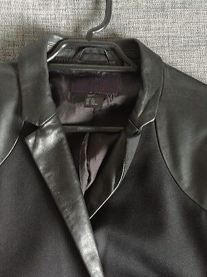 H&M Black Blazer With Real Leather Lapel Panels Euro 50 US 40 Men's