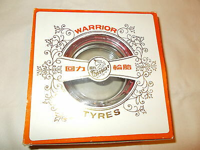 Super Rare Red Warrior Tyre/ Tire Ashtray Mint In Box Tire Is Still Very Soft!