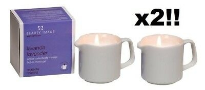 2 x Beauty Image Hot Oil Body Massage Candle lavender - new boxed