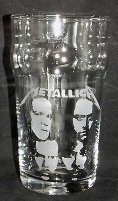 """New Etched Pint Glass """"Metallica"""" - Can be Gift Boxed - Original Gift"""