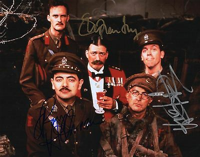 Authentic Blackadder Signed 10 X 8 By  Fry...laurie...atkinson..real Signatures