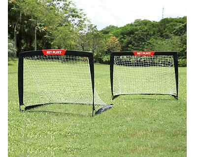 Soccer Goals for Kids New Net X Football Set 2 Training Portable Posts Up Sports