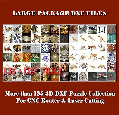 3D PUZZLE MORE THAN 135+ DXF files COLLECTION for CNC ROUTER & LASER CUTTING