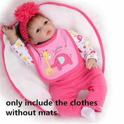 "NOT Included Doll,  20''- 22"" Reborn Baby's Clothes Clothing For Girl Doll Cute"