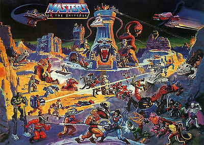 MASTERS OF THE UNIVERSE | MOTU | HE-MAN | ETERNIA | BANNER | PLANE | 3,5m x 2,5m