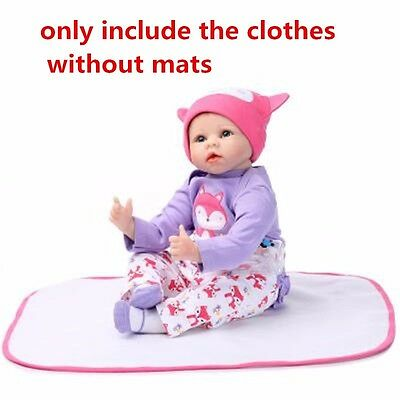 "NOT Included Doll,  20''- 22"" Reborn Baby's Clothing Clothes For Girl Doll"