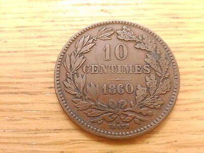 High6. Grade Luxembourg 1860 A 10 Centimes
