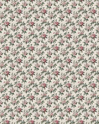 Dolls House Wallpaper (3 X SHEETS) 1/12th Scale (Floral)