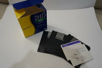 """SONY 2HD IBM Formatted 3.5"""" Floppy Disks DOUBLE SIDED Open pack of 3 FREE P+P"""
