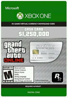Xbox One Grand Theft Auto Online: Great White Shark Cash $1,250,000 GTA 5 V Code