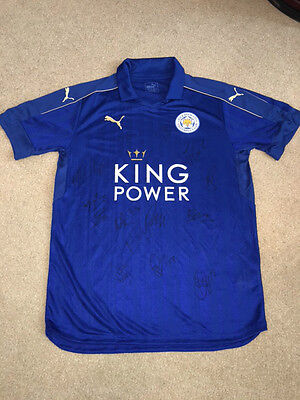 Signed Leicester City Shirt - Community Shield Final 2016