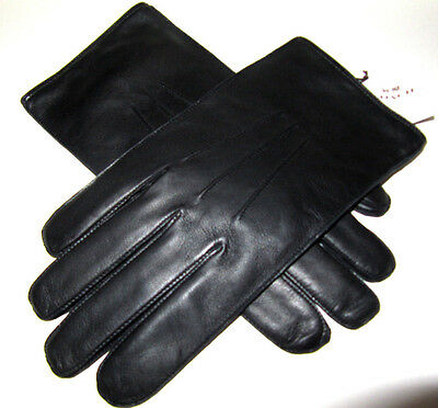 Coach Men's Black Sheepskin Soft Leather Wool Lined Gloves 85850 Size S NWT$130