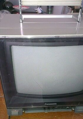 panasonic tc-1100g vintage portable colour television tv rare collectible 1980s
