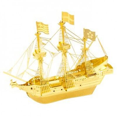 Fascinations Metal Earth 3D Laser Cut Model Golden Hind Ship Boat - GOLDEN