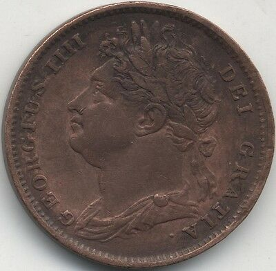 1822 George III Copper Farthing***Collectors***