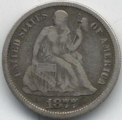 1877 S U.S.A.Seated Liberty Silver Dime***Collectors***