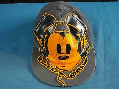Mickey Mouse Disney Parks Cap Grey With Orange Mickey Wearing Headphones Adult