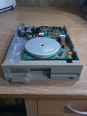 """Lettore Drive FLOPPY Disk 5,25"""" DS HD 1.2MB TEAC vintage PC IBM + cavo flat dati"""