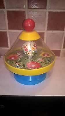 1980's Chicco Toys ~ Bee and Flower Spinning Top ~ Made in Italy ~ Collectable
