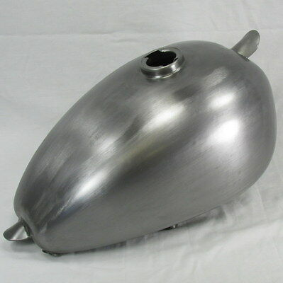 Wassell Style Steel Motorcycle Gas Tank Fuel Harley Sportster Bobber HIGH TUNNEL