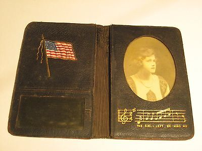 "Wwii Original Soldiers Wallet ""the Girl I Left Behind Me"" Look"