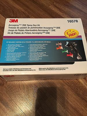 NEW! 3M™ Accuspray™ Spray Gun kit 16578 multi tips and extras. BRAND NEW IN BOX
