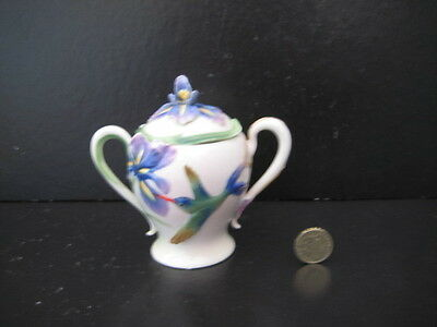 Superb Franz Porcelain Hummingbird Lidded Sugar Bowl Sucrier  Fz00134