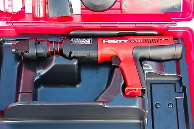 Hilti DX 351 Powder Actuated Nail Gun W/ Case!! NEVER BEEN USED!!! LOOK!!