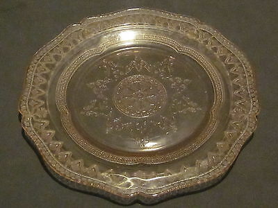 Federal Glass Patrician Spoke Pink Luncheon Plate