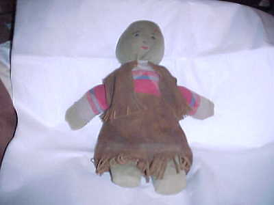 Antique RARE  Native American Reservation Type Rag Sock Doll