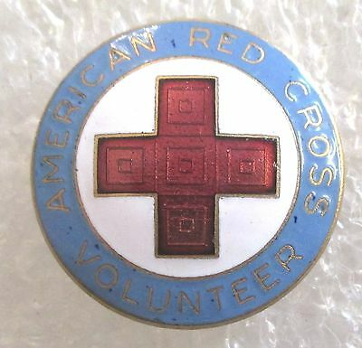 Vintage American Red Cross Volunteer Canteen Corps Pin Badge 1946-1967