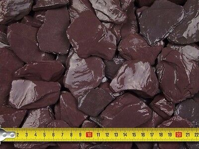 25 BAGS x 20kg PLUM SLATE CHIPPINGS 40mm NORTHAMPTONSHIRE ONLY!