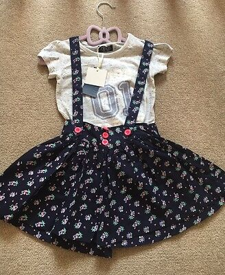 Toddler Girls Navy and Grey T Shirt and Short Outfit Set 1-4 years