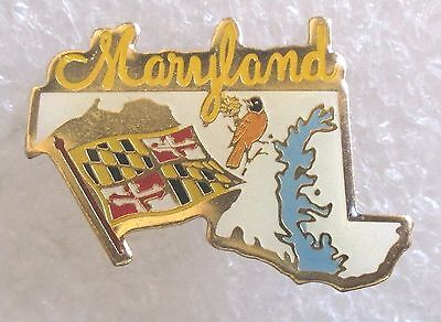 State of Maryland Travel Souvenir Collector Pin