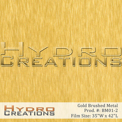 Hydrographic Film For Hydro Dipping Water Transfer Film Gold Brushed Metal