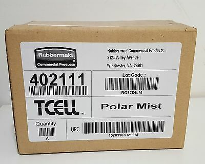 New Rubbermaid Commercial Tcell Refill POLAR MIST Case of 6  FG402111