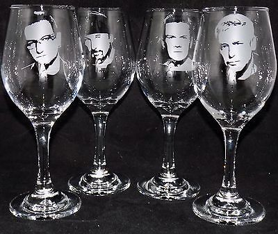 "New Hand Etched Large ""U2 WINE GLASS(ES)"" - Choose any Band Member"