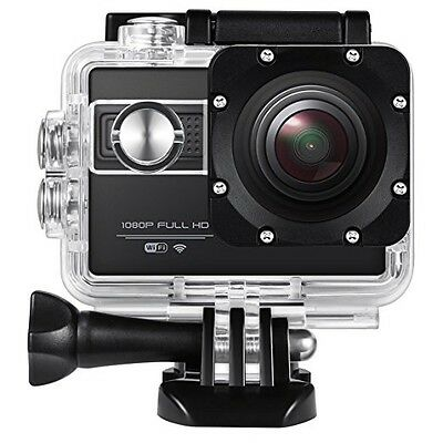"""Action Camera 1080P 12MP Wi-Fi 2.0"""" HD 170° Waterproof Mounting Accessories"""