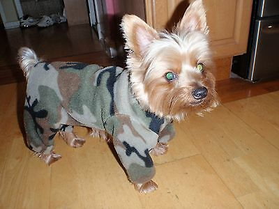 Assorted Camouflage Fleece Dog Coats
