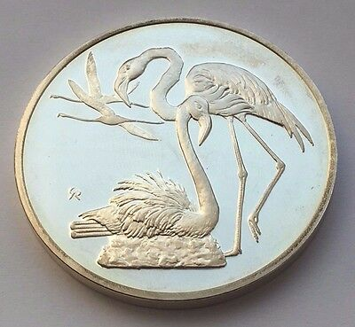 1971 Greater Flamingo No.6 Franklin Mint Sterling Silver Round