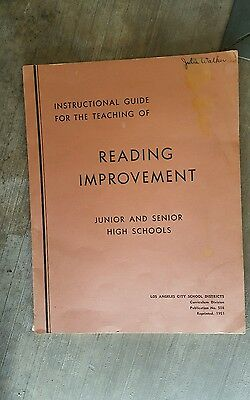 Instructional Guide for the Teaching of Reading Improvement, L. A. City Schools